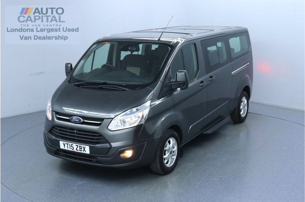 USED 2015 15 FORD TOURNEO CUSTOM 2.2 300 Limited TDCI 125 BHP L2 LWB 9 Seats Minibus Trade sale only   No warranty   Air Con   F-R Parking sensors   Auto start-stop