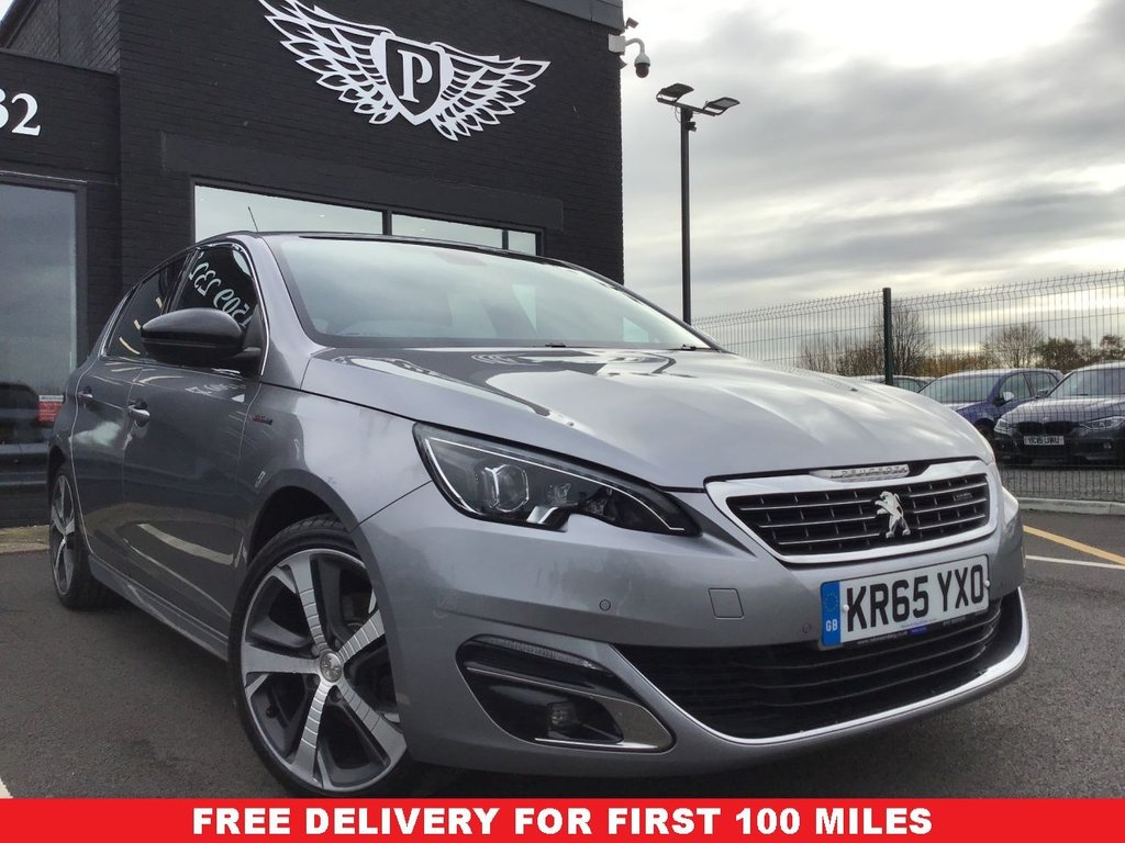 USED 2015 65 PEUGEOT 308 1.6 BLUE HDI S/S GT LINE 5d 120 BHP *FULL VALET, MOT, SERVICE AND WARRANTY INC - 7 DAYS MONEY BACK GUARANTEE - FREE DELIVERY - FINANCE RATES FROM 5.9%*
