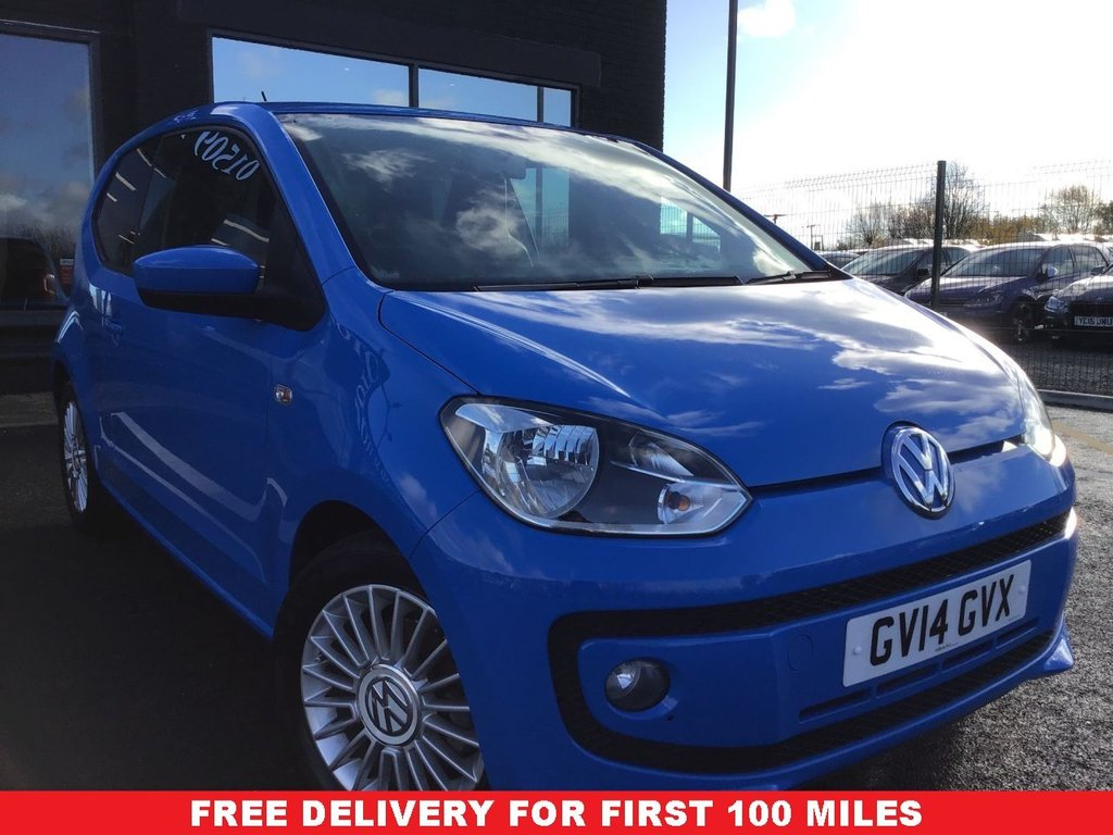 USED 2014 14 VOLKSWAGEN UP 1.0 HIGH UP BLUEMOTION TECHNOLOGY 3d 74 BHP ONLY 7.000 MILES