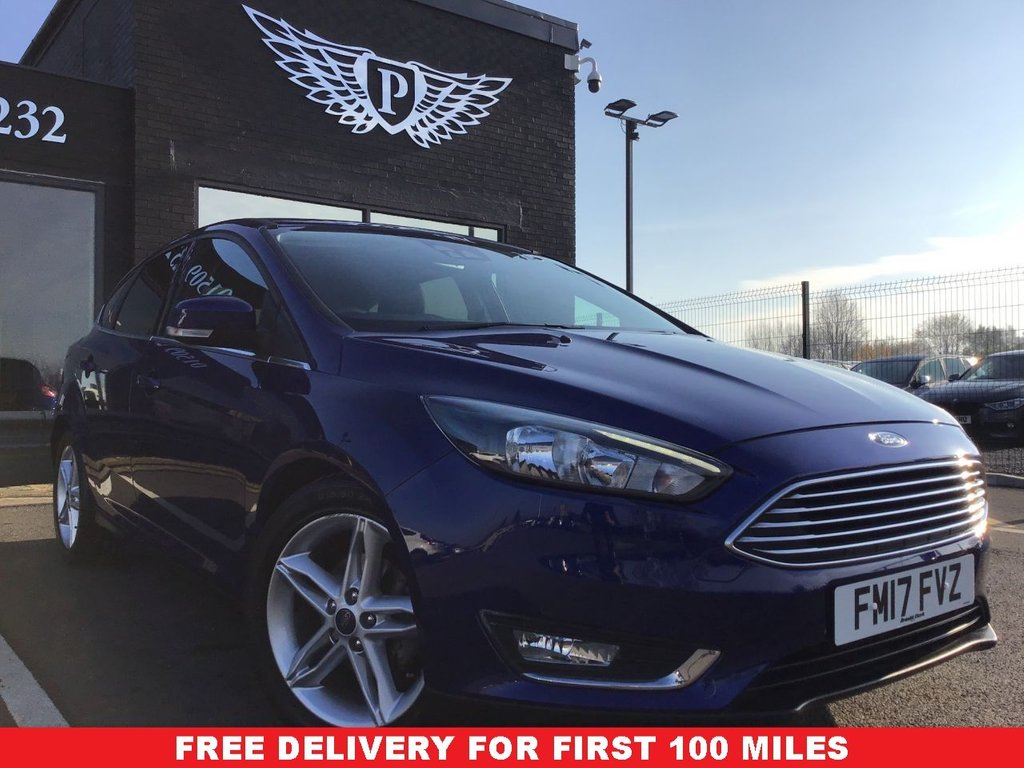 USED 2017 17 FORD FOCUS 1.0 TITANIUM 5d 124 BHP WARRANTY,  MOT AND SERVICE