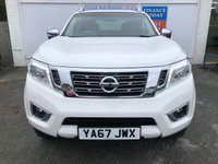 USED 2017 67 NISSAN NAVARA 2.3 DCI TEKNA 4X4 4dr 5 Seat Double Cab Pickup AUTO Stunning in White with Great High Spec.Recent Service plus MOT now Ready to Finance and Drive Away Today Fantastic Full service history
