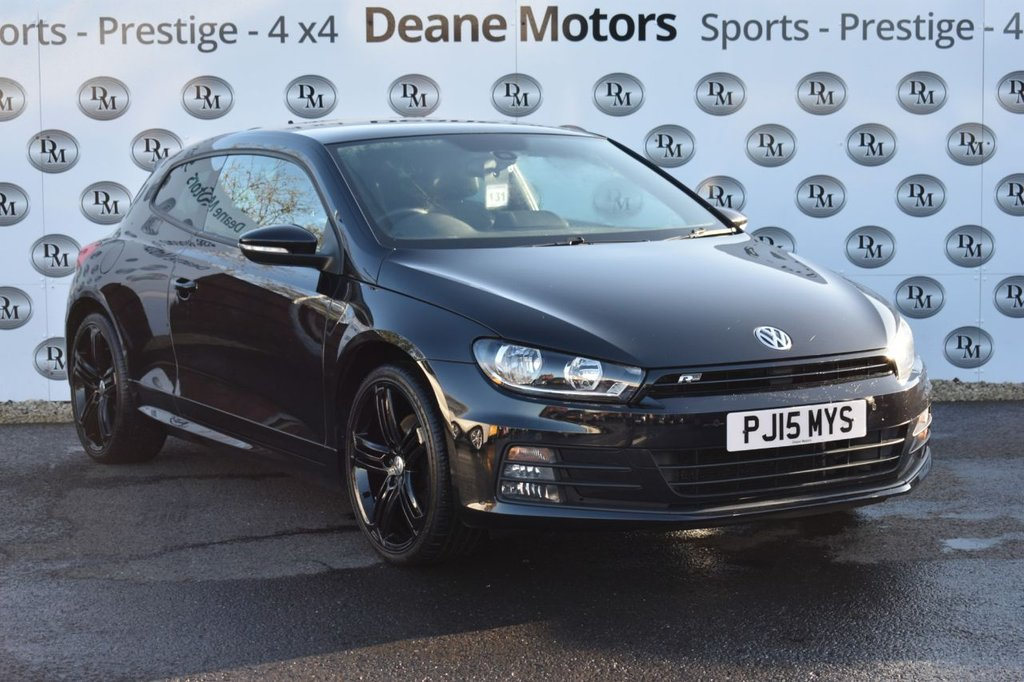 USED 2015 15 VOLKSWAGEN SCIROCCO 2.0 R LINE TDI BLUEMOTION TECHNOLOGY 2d 182 BHP BLACK PACK