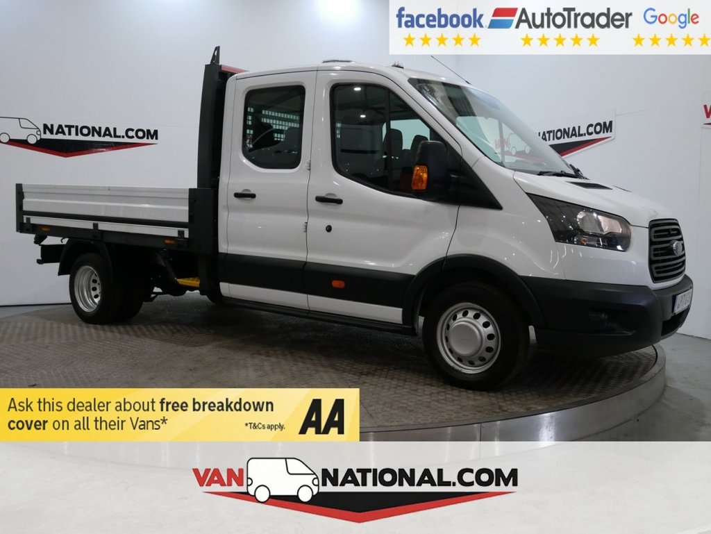 USED 2017 17 FORD TRANSIT 2.0 350 L3 DCB DRW 130 BHP DROPSIDE TWIN REAR WHEELS DRW *EURO 6* * ONE OWNER * EURO 6 * 7 SEATS * ZERO DEPOSIT FINANCE AVAILABLE *