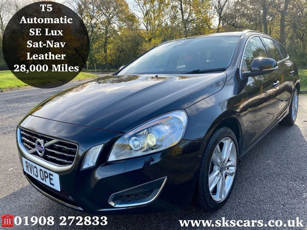 USED 2013 13 VOLVO V60 2.0 T5 SE LUX 5d 237 BHP **12 MONTHS NATIONAL WARRANTY**