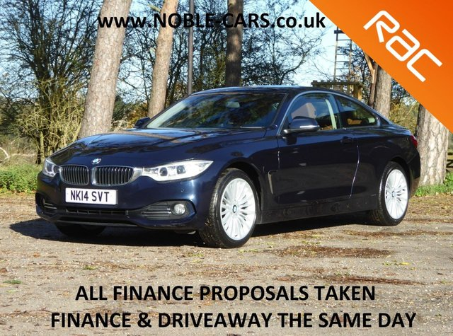 USED 2014 14 BMW 4 SERIES 2.0 420D XDRIVE LUXURY 2d 181 BHP