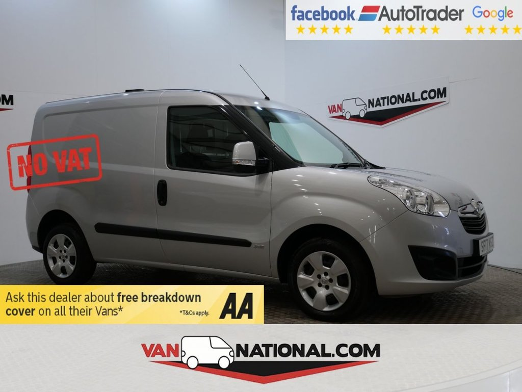 USED 2017 17 VAUXHALL COMBO 1.2 L1H1 2000 SPORTIVE CDTI 95 BHP (NO VAT NO VAT NO VAT) * NO VAT * AIR CON * TOW BAR * ZERO DEPOSIT FINANCE AVAILABLE *