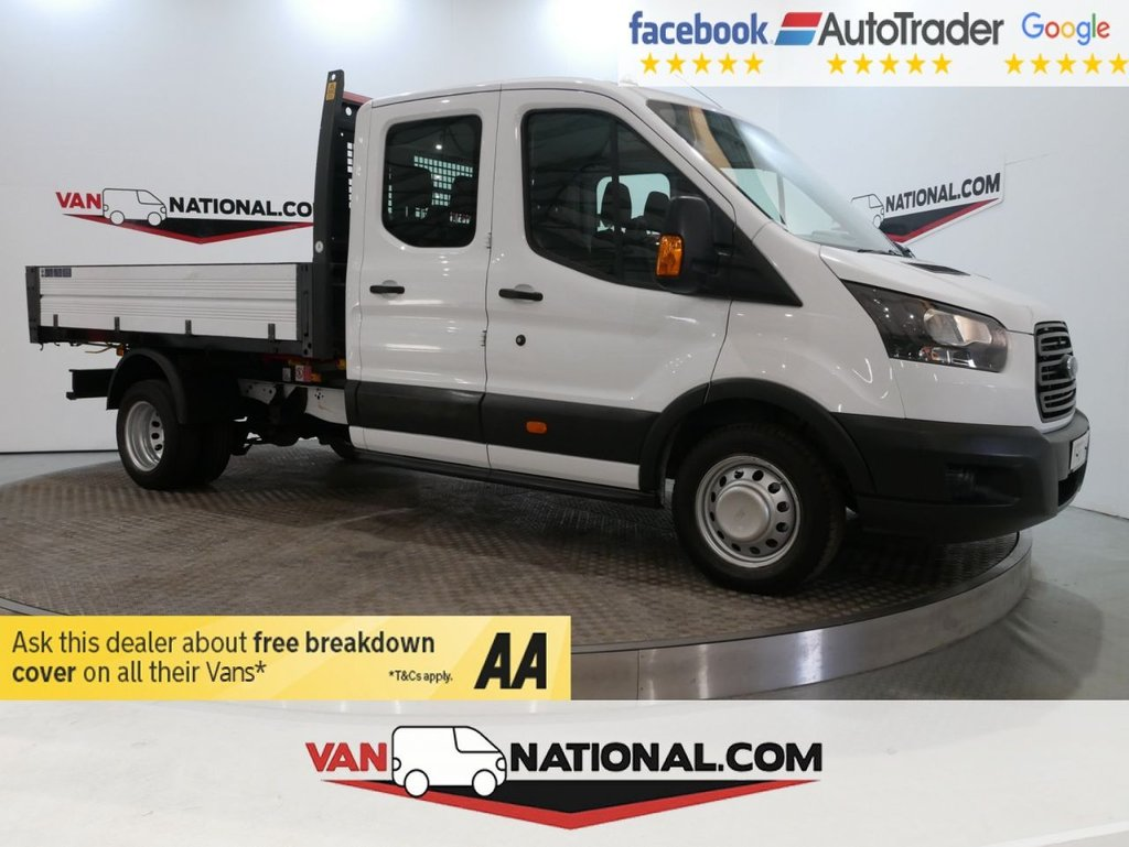 USED 2017 67 FORD TRANSIT 2.0 350 L3 DCB DRW 130 BHP LWB (1 STOP) TIPPER CREW CAB EURO 6 * ONE OWNER * EURO 6 * 7 SEATS * ZERO DEPOSIT FINANCE AVAILABLE *