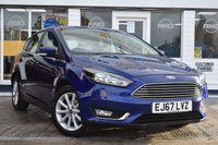 USED 2017 67 FORD FOCUS 1.0 TITANIUM 5d 100 BHP AVAILABLE FOR ONLY £230 PER MONTH WITH £0 DEPOSIT