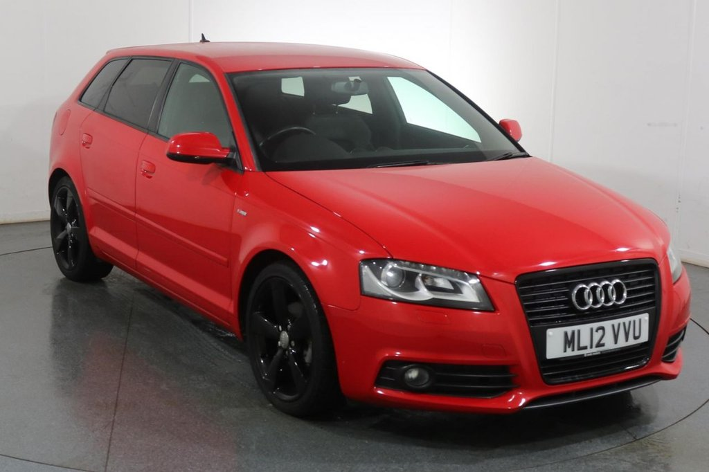USED 2012 12 AUDI A3 2.0 SPORTBACK TDI S LINE SPECIAL EDITION 5d 138 BHP 2 OWNERS with 6 Stamp SERVICE HISTORY