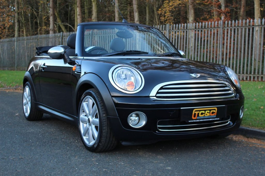 USED 2009 59 MINI CONVERTIBLE 1.6 COOPER 2d 120 BHP A CLEAN LOW MILEAGE MINI WITH CHILLI PACK AND BLUETOOTH!!!