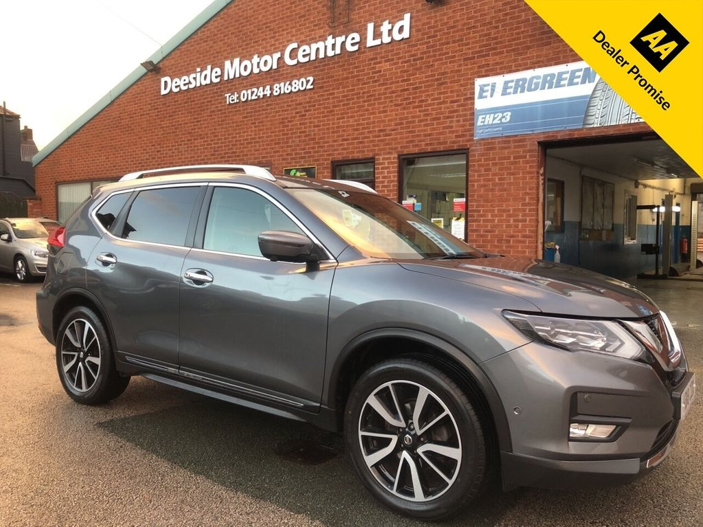 USED 2018 18 NISSAN X-TRAIL 1.6 DCI TEKNA 5d 130 BHP Full Nissan service history :  Bluetooth   :  Sat Nav   :  DAB Radio   :  Full leather upholstery   :  Heated front seats   :   Heated steering wheel   :   Electric driver/passenger seats   :   Bose sound system   : Panoramic opening sunroof : Remotely operated tailgate : Front + rear parking sensors : Surround camera system/Around view monitor