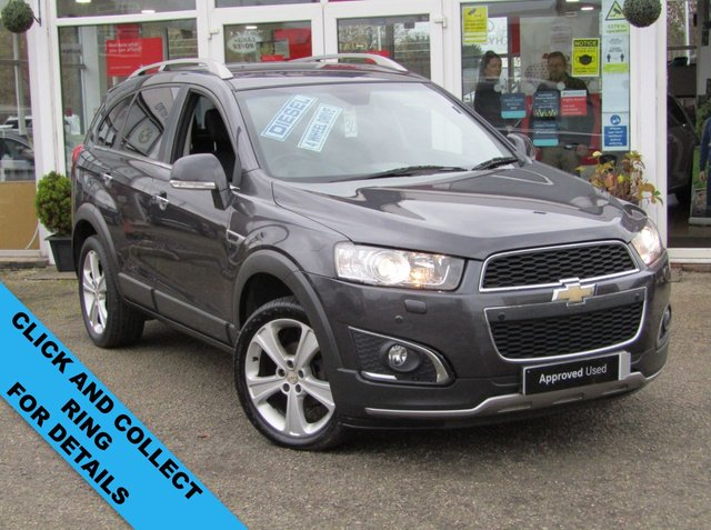 USED 2013 63 CHEVROLET CAPTIVA VCDI LTZ Finished in STEALTH GREY METALLIC with contrasting EBONY HEATED ELECTRIC SEATS. The Chevrolet has established itself as a brand that offers good value for money, but the Captiva goes beyond this to be a car that is genuinely good value. The split tailgate allows you to open the glass top section separately. Other features include Rear Camera, Sat Nav, Park Sensors, Heated Leather, B/Tooth and much more. Dealer Serviced 11905 miles, 24645 miles, 33577 miles and on arrival by EMC at 55448 miles.