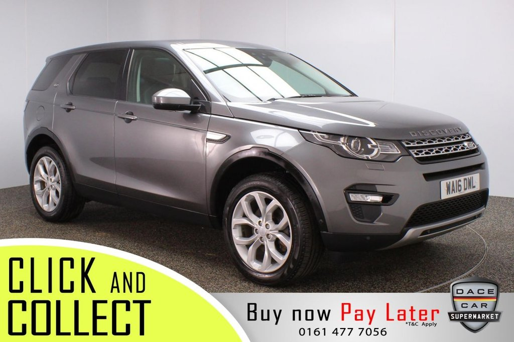 USED 2016 16 LAND ROVER DISCOVERY SPORT 2.0 TD4 HSE 5DR 180 BHP + 7 SEATS + PAN ROOF + FULL SERVICE HISTORY  FULL SERVICE HISTORY + 7 SEATS + HEATED LEATHER SEATS + PANORAMIC ROOF + SATELLITE NAVIGATION + REVERSE CAMERA + PARK ASSIST + LANE ASSIST SYSTEM + BLUETOOTH + CRUISE CONTROL + CLIMATE CONTROL + MULTI FUNCTION WHEEL + XENON HEADLIGHTS + PRIVACY GLASS + ELECTRIC FRONT SEATS + DAB RADIO + AUX/USB PORTS + ELECTRIC WINDOWS + ELECTRIC/HEATED/FOLDING DOOR MIRRORS + ALLOY WHEELS
