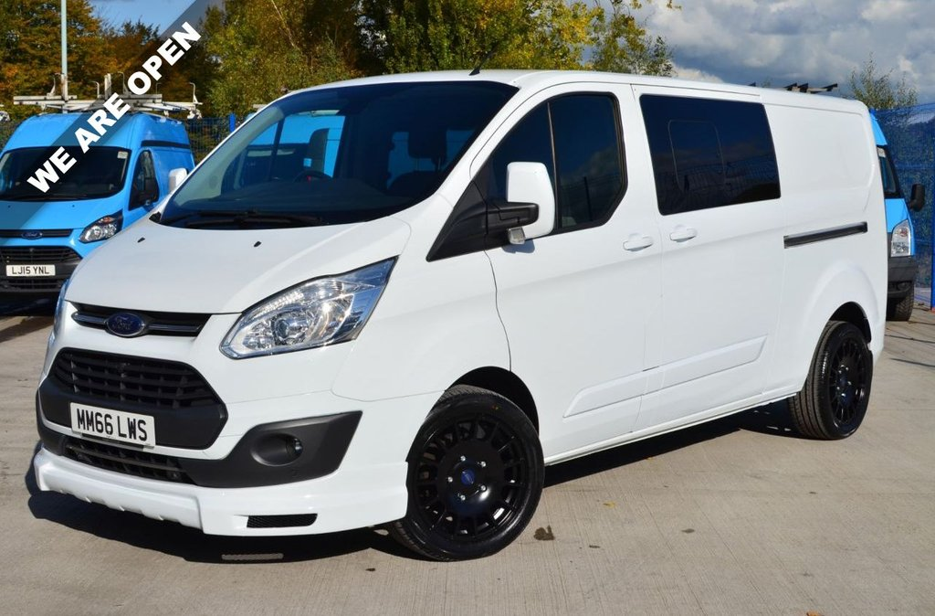 USED 2017 66 FORD TRANSIT CUSTOM 290 LIMITED LR P/V 2.0 290 LIMITED LWB DOUBLECAB CREWCAB 130 BHP EURO 6 KOMBI ONE OWNER / FSH / DOUBLE CAB / LIMITED / LWB / WE ARE OPEN
