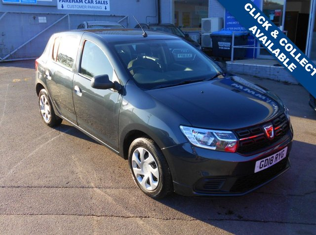 USED 2018 18 DACIA SANDERO 1.0 AMBIANCE SCE 5d 73 BHP CLICK + COLLECT THIS VEHICLE