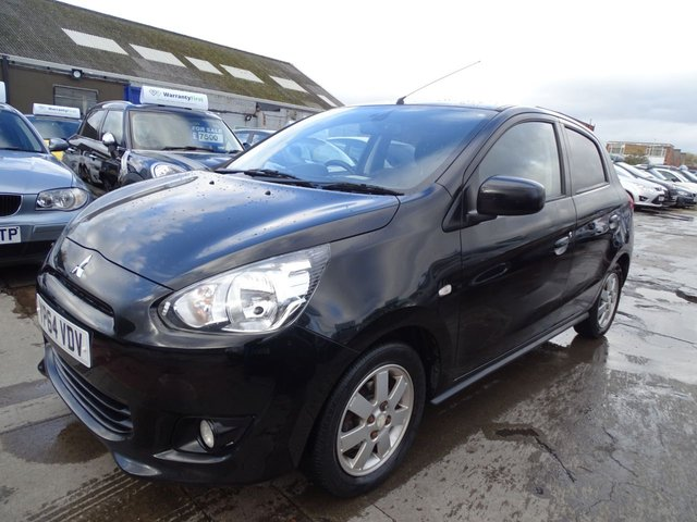 USED 2014 64 MITSUBISHI MIRAGE 1.2 3 5d 79 BHP AUTOMATIC 1 OWNER DRIVES A1