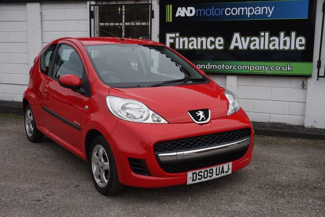 USED 2009 09 PEUGEOT 107 1.0 VERVE 3d 68 BHP 2 Keys, Service History, Air Conditioning,Aux, Radio/Cd