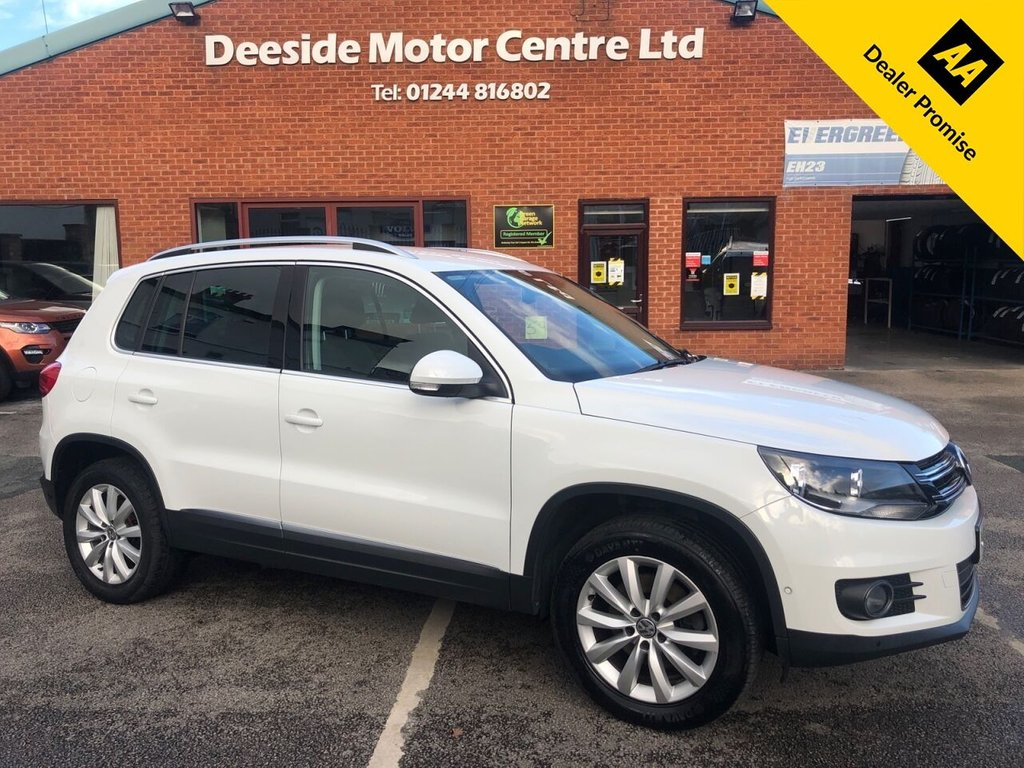USED 2015 65 VOLKSWAGEN TIGUAN 2.0 MATCH TDI BLUEMOTION TECHNOLOGY 4MOTION 5d 148 BHP Fully stamped service history  :  2 Keys  :  Bluetooth  :  Sat Nav  :  DAB Radio  :  Cloth upholstery  :  Isofix fittings  :  Air-conditioning/Climate control  :  Seatback tables  :   VW Park Assist system plus front + rear parking sensors