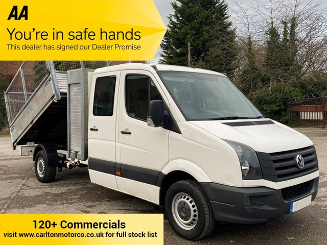 2013 13 VOLKSWAGEN CRAFTER 2.0 CR35 TDI 110 D/CREW CAB DROPSIDE CAGED SIDES POD TOOL BOX