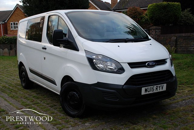 2015 15 FORD TRANSIT CUSTOM 2.2 TDCI 270 L1 DOUBLE CAB [100 BHP] 6 SEATER