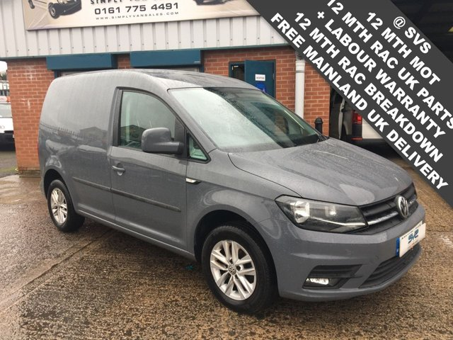 USED 2017 17 VOLKSWAGEN CADDY 2.0TDI TOPM SPEC HIGHLINE PURE GREY AIR CON EURO 6 FULL VW HISTORY