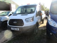 USED 2018 68 FORD TRANSIT 2.0 350 L5 Extended Frame Dropside 5d 130 BHP 2018 68 ford transit 350 5 mtr dropside