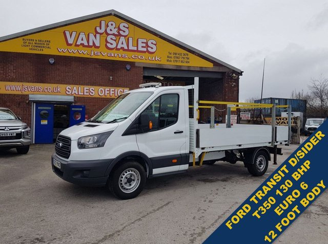 USED 2017 67 FORD TRANSIT 2.0 350 L.W.B 12 FT DROP SIDE EURO 6 LOW MLS  BIG STOCK EURO 6 OVER VANS OVER 100 ON SITE