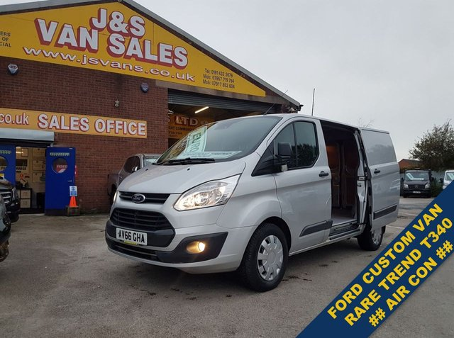 USED 2016 66 FORD TRANSIT CUSTOM 2.0  RARE MODEL T340 TREND 130 BHP A/C  F.S.H 6 STAMPS  ###### BIG STOCK EURO 6 OVER VANS OVER 100 ON SITE #######