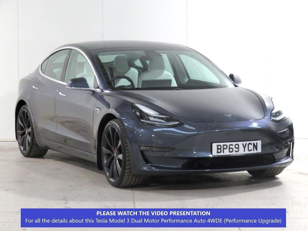 USED 2019 69 TESLA model 3 Dual Motor Performance Auto 4WDE 4dr (Performance Upgrade) FULL-SELF-DRIVE**WHITE-LEATHER