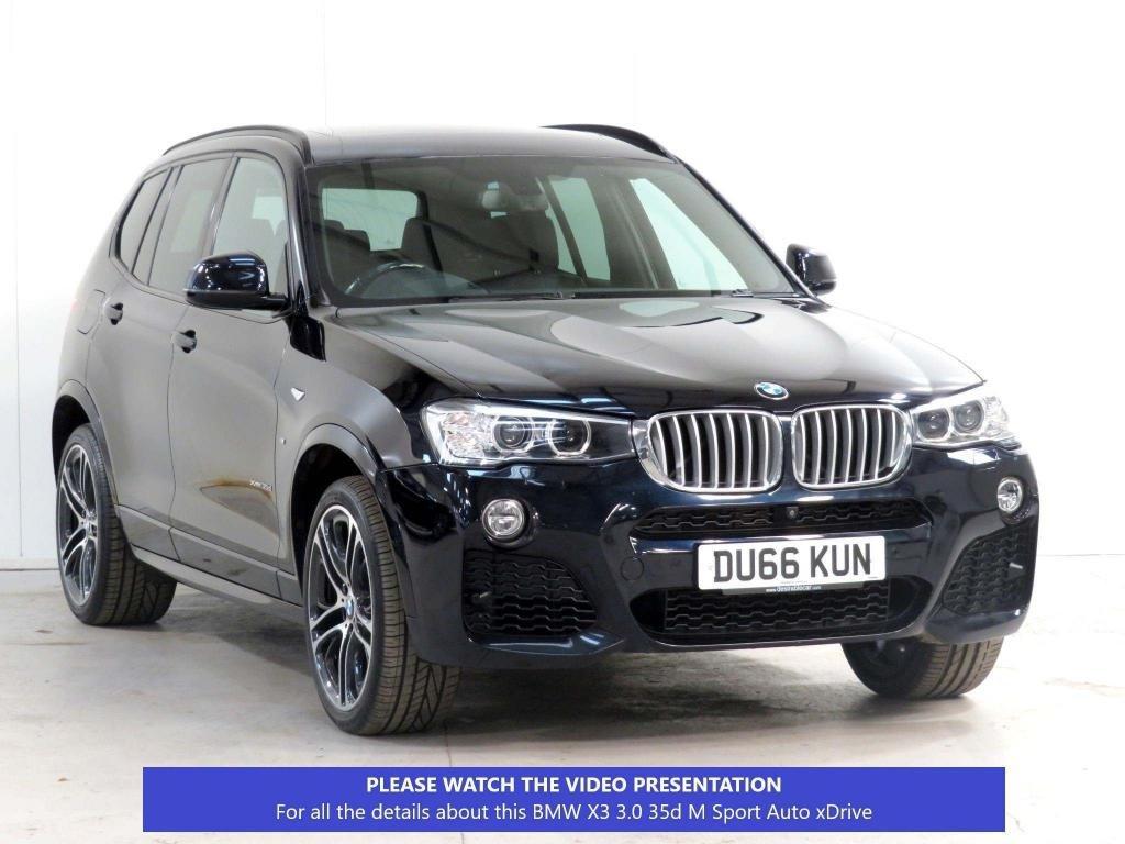 USED 2016 66 BMW X3 3.0 35d M Sport Sport Auto xDrive 5dr £8.5k XTRA*PANROOF*360CAM*PLUS