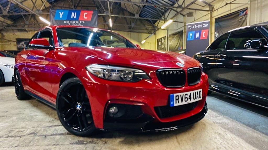USED 2014 64 BMW 2 SERIES 2.0 218d M Sport (s/s) 2dr PERFORMANCEKIT+HTDLTHR+18S