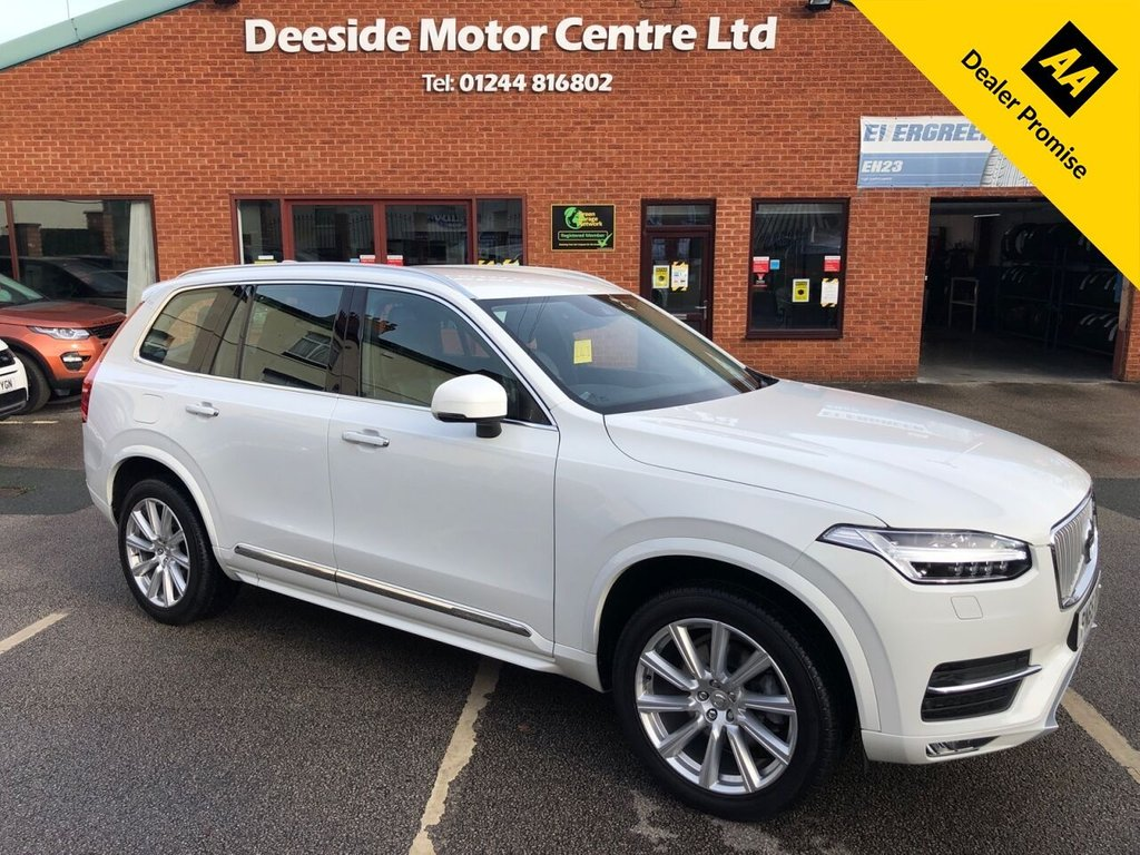 USED 2015 65 VOLVO XC90 2.0 D5 INSCRIPTION AWD 5d 222 BHP Family 7-Seater : Full Volvo service history : Bluetooth : Sat Nav : DAB Radio : Wi-Fi : Full leather upholstery : Electric/Heated front seats : Heated steering wheel : Heated screen : Rear window blinds : Remotely operated tailgate : Rear parking sensors