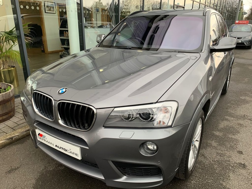 USED 2014 14 BMW X3 2014/14 - 2.0 XDRIVE20D M SPORT 5d 181 BHP �£6160 OPT/EXT  GLASS PAN ROOF + BLACK LEATHER+AUTOMATIC + ELECTRIC TOWBAR