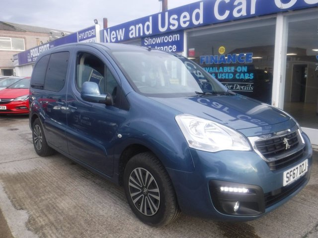 USED 2018 67 PEUGEOT PARTNER 1.6 HORIZON RE/BLUE HDI S/S TEPEE ALLURE 5d 100 BHP WHEELCHAIR ACCESS WITH WINCH*1 OWNER*CRUISE*BTOOTH