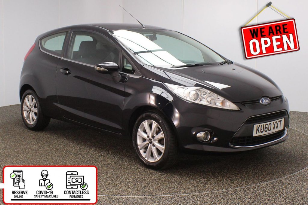 USED 2010 60 FORD FIESTA 1.2 ZETEC 3DR 81 BHP SERVICE HISTORY + BLUETOOTH + MULTI FUNCTION WHEEL + AIR CONDITIONING + RADIO/CD + AUX/USB PORTS + ELECTRIC WINDOWS + ELECTRIC MIRRORS + 15 INCH ALLOY WHEELS