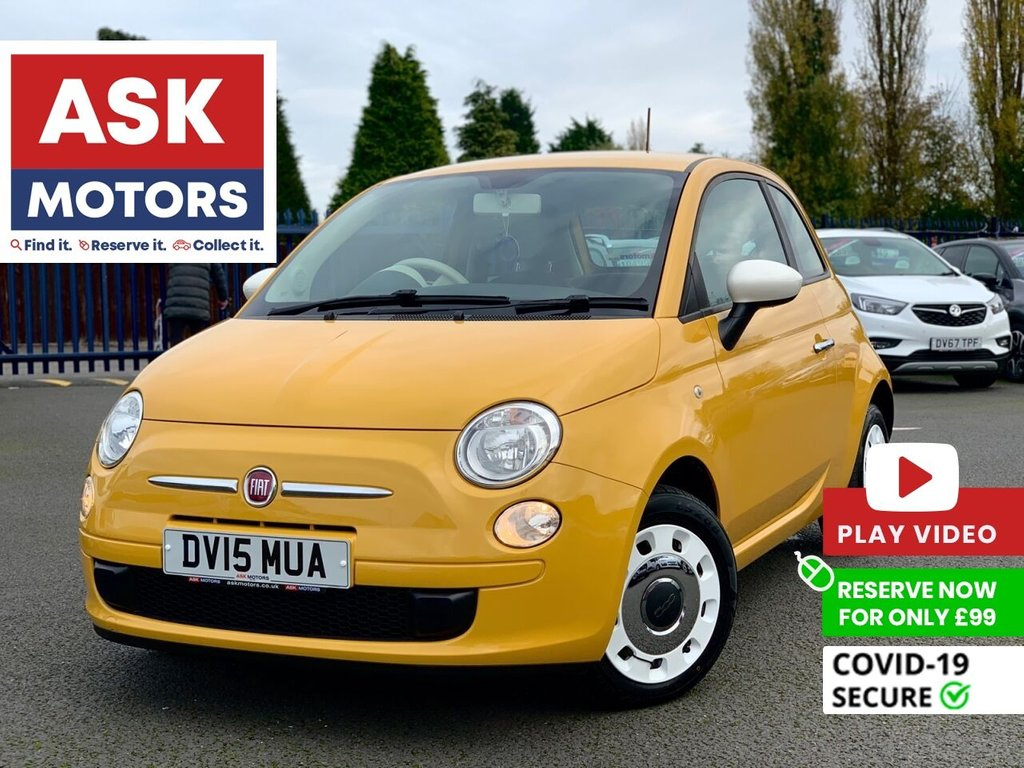 USED 2015 15 FIAT 500 1.2 COLOUR THERAPY 3d 69 BHP