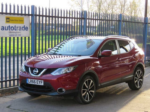 USED 2016 66 NISSAN QASHQAI 1.5 DCI TEKNA 5d 108 BHP 1 Owner, 3 Services, 2 Keys, Sat Nav, Bluetooth, DAB, Pan Roof, Dual Zone Climate Control, Cruise Control, Heated Front Seats, Full Leather