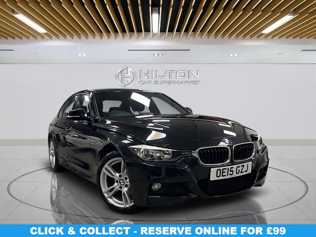 """USED 2015 15 BMW 3 SERIES 2.0 320D M SPORT 4d 181 BHP 18"""" Alloys, M Sport Package, Navigation System, Parking Sensors, Leather Upholstery, Climate Control"""