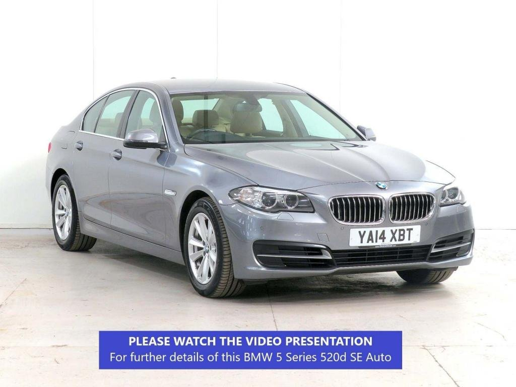 USED 2014 14 BMW 5 SERIES 2.0 520d SE 4dr 5 x SERVICES**VENETIAN-LEATHER