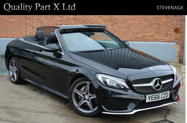 USED 2016 66 MERCEDES-BENZ C-CLASS 2.0 C200 AMG Line Cabriolet G-Tronic+ (s/s) 2dr BLUETOOTH,LED,CAMERA,SENSORS
