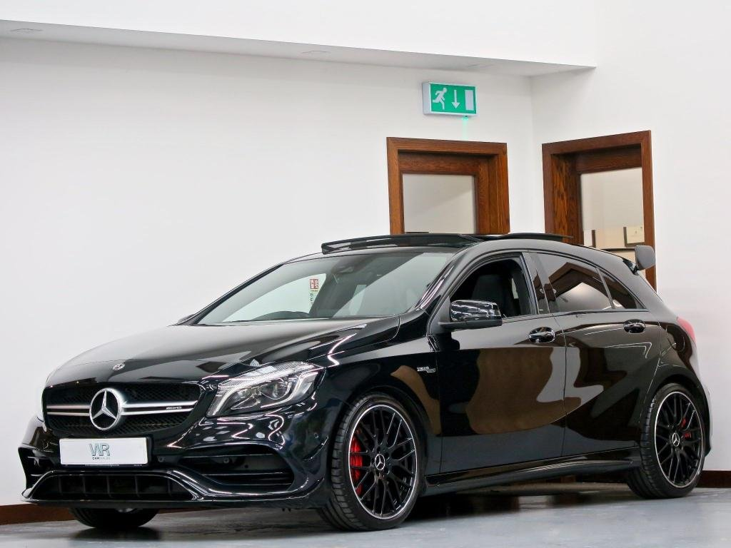 USED 2017 67 MERCEDES-BENZ A-CLASS 2.0 A45 AMG (Premium) SpdS DCT 4MATIC (s/s) 5dr PANROOF + RACE MODE + AERO KIT