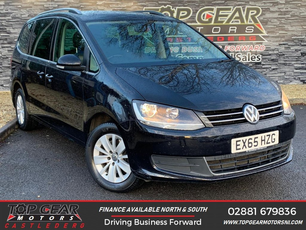 USED 2015 65 VOLKSWAGEN SHARAN 2.0TDI 150BHP SE BLUEMOTION TECHNOLOGY **7 SEATER, PARKING SENSORS, FINANCE AVAILABLE** OVER 90 VEHICLES IN STOCK