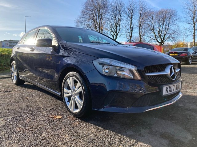 """USED 2017 17 MERCEDES-BENZ A-CLASS 1.6 A 160 SPORT EXECUTIVE 5d 102 BHP WILL COME WITH 12 MONTHS MOT-2 KEYS+CLIMATE+NAVIGATION+USB+PARKING SENSORS+17""""ALLOYS+MEDIA+AUX+LEATHER TRIM+BLUETOOTH+DAB+CRUISE CONTROL+"""