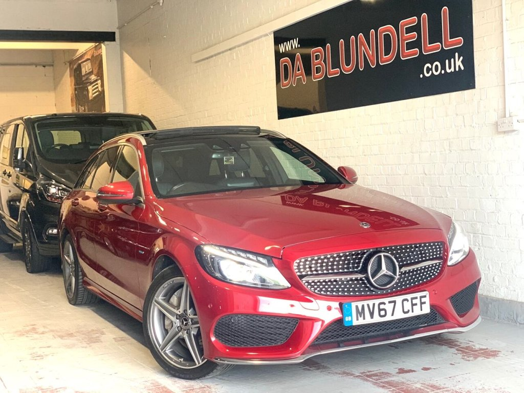 USED 2017 67 MERCEDES-BENZ C-CLASS 2.0 C 350 E AMG LINE PREMIUM 5d 275 BHP PAN ROOF+C43 GRILLE+NAV+R.CAME