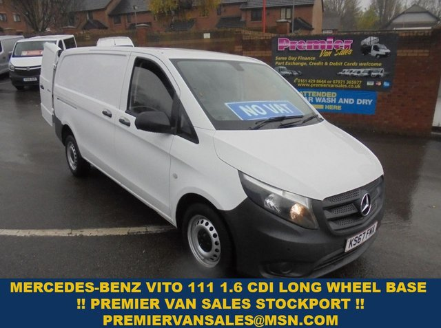 USED 2017 67 MERCEDES-BENZ VITO 1.6 111 CDI 114 BHP   LONG WHEEL BASE SIX SPEED CRUISE CONTROL  2017 YEAR EURO 6 MODEL  !!!! NO VAT !!!! !!!! NO VAT !!!  2017 YEAR EURO 6 MODEL LONG WHEEL BASE DIESEL SIX SPEED  !!! NO VAT !!!