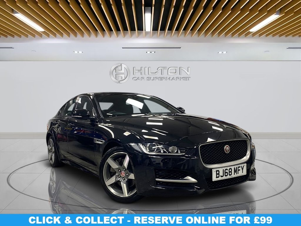 "USED 2018 68 JAGUAR XE 2.0 R-SPORT 4d 198 BHP Navigation System, Leather Seats,18"" Alloy Wheels, Parking Sensor(s), Climate Control"