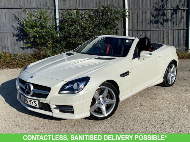 USED 2015 15 MERCEDES-BENZ SLK 1.8 SLK200 BLUEEFFICIENCY AMG SPORT 2d 184 BHP AUTOMATIC LOW MILEAGE, MANY EXTRAS.FINANCE ME TODAY-UK DELIVERY POSSIBLE