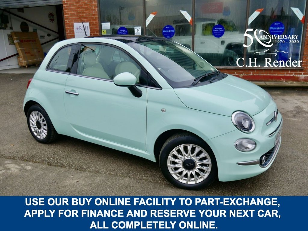 USED 2016 16 FIAT 500 1.2 LOUNGE 3d 69 BHP CLICK & COLLECT ONLINE AT C H RENDER.