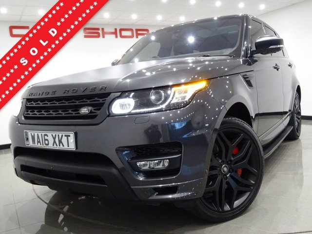 USED 2016 16 LAND ROVER RANGE ROVER SPORT 3.0 SDV6 (306 BHP) AUTOBIOGRAPHY DYNAMIC 4X4 AUTO (S/S)..NAV..11,000 POUND EXTRAS..STEALTH PACK..22 S..PAN ROOF..HEAT-COOL LEATHERS..SURROUND CAMERAS..CRUISE..PRIVACY..POWER BOOT PAN ROOF+22 S+CAMERAS+PARK+XENONS+EHM LEATHERS+NAV