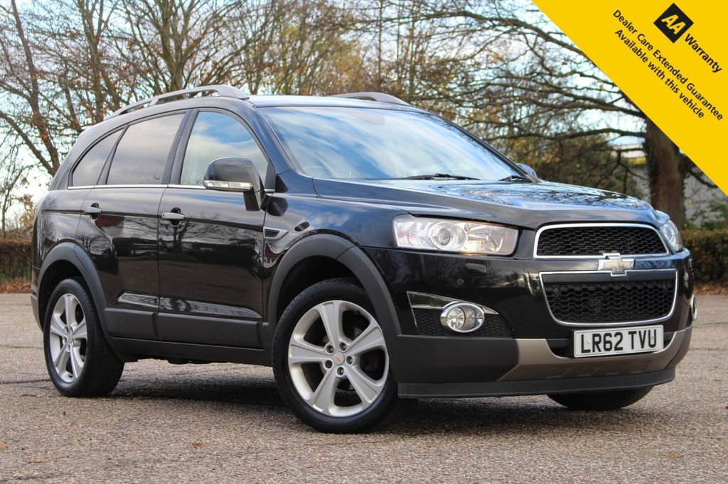 """USED 2013 62 CHEVROLET CAPTIVA 2.2 LTZ VCDI 5d 184 BHP ** GREAT VALUE LOW MILEAGE 4X4 7 SEATER AUTOMATIC ** FULL SERVICE HISTORY ** FRESHLY SERVICED AND BRAND NEW ADVISORY FREE MOT ** LEATHER INTERIOR ** ELECTRIC SEAT ** HEATED SEATS ** SAT NAV ** REAR PARKING CAMERA ** FRONT + REAR SENSORS ** CRUISE CONTROL ** BLUETOOTH ** AUTO LIGHTS + WIPERS ** 19"""" ALLOY WHEELS ** LOW RATE £0 DEPOSIT FINANCE AVAILABLE ** CLICK & COLLECT + NATIONWIDE DELIVERY AVAILABLE **"""
